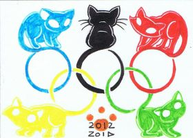 funny cat olympic rings by KingZoidLord