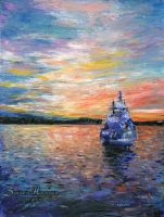 Sunrise in Oslo by dh6art