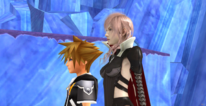 Kingdom Hearts 3 and Lightning Returns by Hatredboy