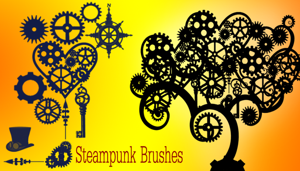 Steampunk Brushes by Blume-Art
