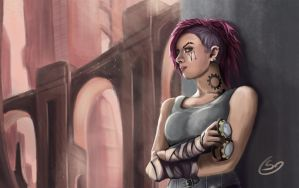 VI the Piltover Enforcer by T-S-L