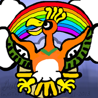 Ho-Oh the rainbow pokemon by GNGTNT105