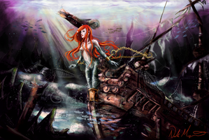 The Little Mermaid by GlassCatfish