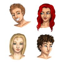 Presentation des personnages by JellyMayu