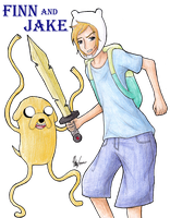 Finn and Jake by muffinmonkey72
