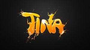 Tina wallpaper orange by t1na