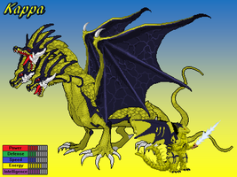 Neo Genesis Advent - Kappa Ghidorah Bio by Burninggodzillalord