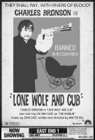 Lone Wolf and Cub faux poster by Hartter