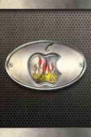 iPhone Wallpaper - Fired - Metal by LaggyDogg