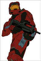Vectorized Master Chief by Art-Minion-Andrew0