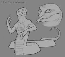 The Snakeman by LhuneArt