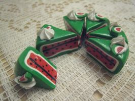Watermelon Cakes by MonaxCorona