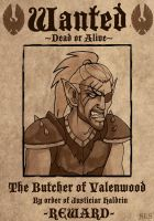 Wanted: The Butcher of Valenwood by SlayerSyrena