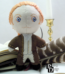 Historical Alexander Hamilton 3D Cross Stitch Doll by rhaben