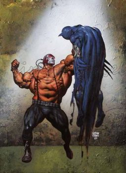Bane vs Batman by GlennFabry