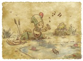 Thomas the Leap Year sketching Elf 5 by D-Gee