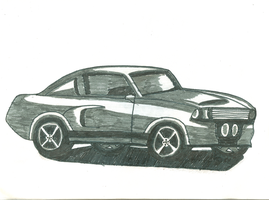 Shelby Mustang by kaleidescopiclee