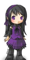 Purple Chibi by Gonbe