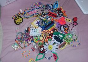 all my kandi from YouTube trades by ninjalove134