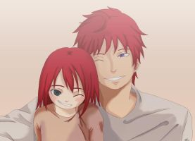 Yahizui: Happier times- with papa by Itygirl