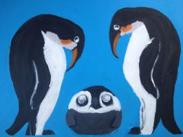 Penguins Upon a Painting by SleepyIguana