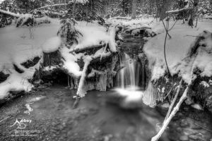 HDR Winter River by Nebey