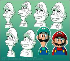 Mario and Luigi SS Doodles by RatchetMario