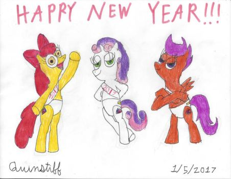 Happy New Year from the Cutie Mark Crusaders by Quinstiff