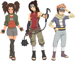 New Naruto Progeny: Team OmoTaiWan by AMTModollas