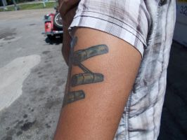 side view robotic tatoo by ArtytheArtist