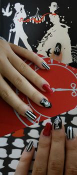 Night Circus Nails, Revamp by Eternity-Beckons