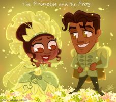 50ChibisDisney: Princess Frog by princekido