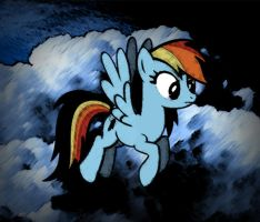 Simple Rainbow Dash Photoshopping c: by WizE-KevN