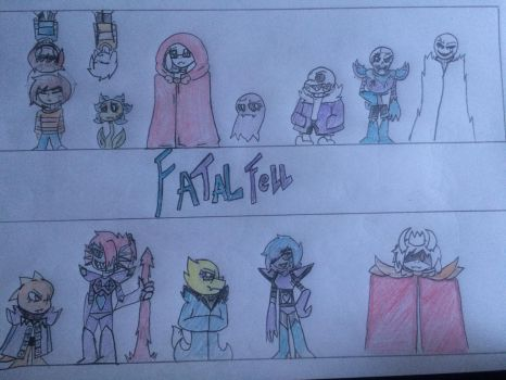 FatalFell - Main characters and cover by WolfieTheWolfFNAF