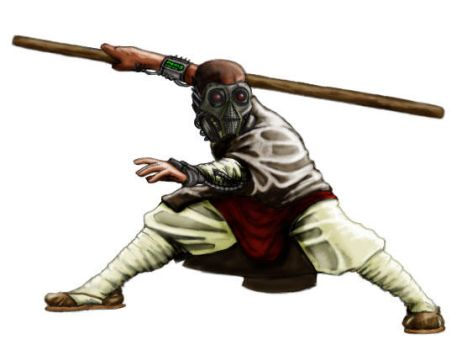Post Apocalyptic Shaolin Monk by ommony