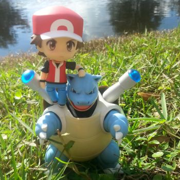 Red and Blastoise by LuckyMissClover