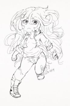 Chibi Sketch - Agrias by GoldenMizer90