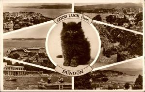 Vintage European Postcards - GOOD LUCK from Dunoon by Yesterdays-Paper
