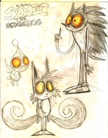 Tim Burton Sonic Sketch by Weretoons101