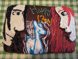 Lily and Snape Cake-DH Spoiler by ronwheezyrox