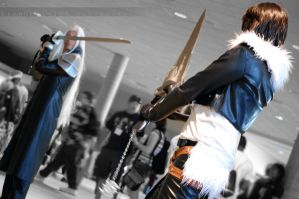 Squall vs Sephiroth. by Lionheart185