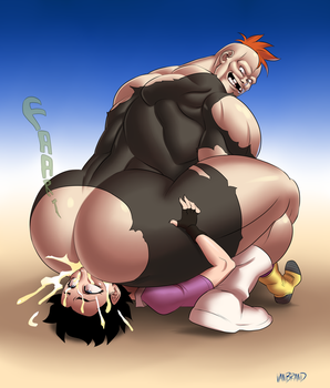 Recoome Farting Videl's Face by sats-VanBrand