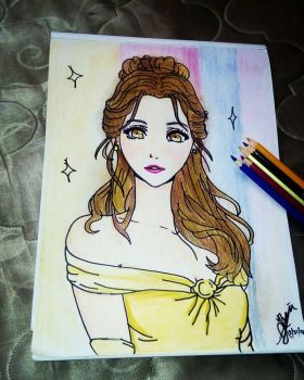 Princess Belle from Beauty and the Beast.  by imjakelegrand