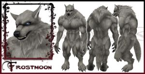 Frostmoon Wolf Form Character Sheet by EmilyCammisa