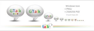 Google Talk Icon+ PNGs+ PSD by HYDRATTZ
