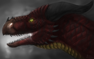 Dragon Profile Speedpaint by Scaleeth