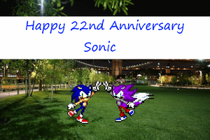 Happy Sonic 22nd Anniversary by LeonTheSnowWolf