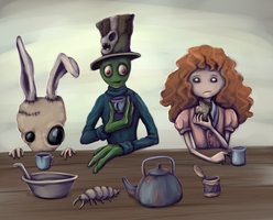 Mad Fingers' Tea Party by Carnie-Vorex