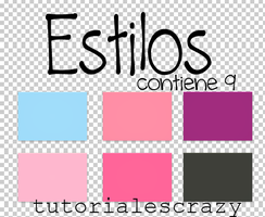 Pack De Estilos para photoshop by tutorialescrazy