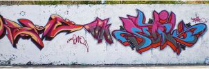 My First Wall, with Setik one by Graffitiminded